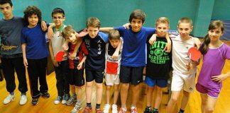 Groupe Ecole de Tennis de Table avril 2014